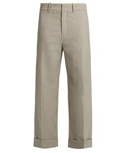 Chloé | Striped Wide-Leg Wool-Blend Trousers