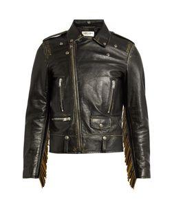 Saint Laurent | Tasselled Leather Biker Jacket