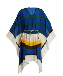 Fendi   Wave-Print Silk Kaftan