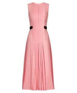 Emilia Wickstead | Jolley Pleated Wool-Crepe Dress