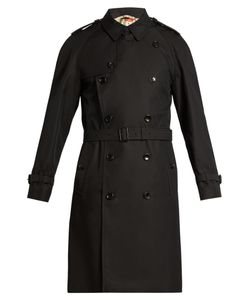Gucci | Bee-Embroidered Cotton-Drill Trench Coat