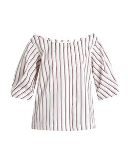 Isa Arfen | Bunting Stripe Button-Down Cotton Top
