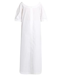 Isa Arfen | Button-Down Cotton-Poplin Dress