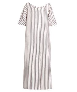 Isa Arfen | Bunting Stripe Button-Down Cotton Dress