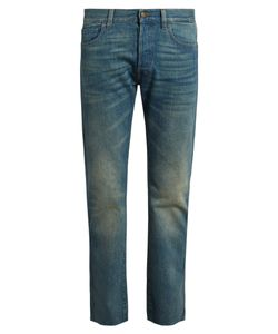 Gucci | Back-Embroidered Slim-Fit Jeans