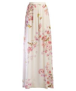 Giambattista Valli | Floral-Print Silk-Georgette Skirt