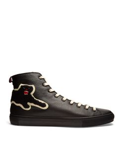 Gucci | Panther High-Top Leather Trainers