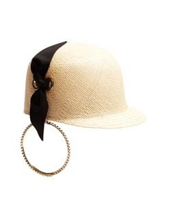 Federica Moretti | Panama Earring Straw Hat