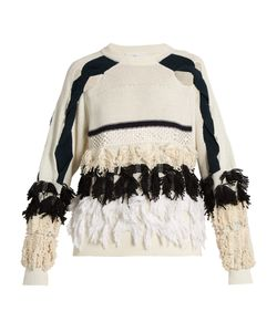 Toga | Fringed Cotton-Blend Sweater