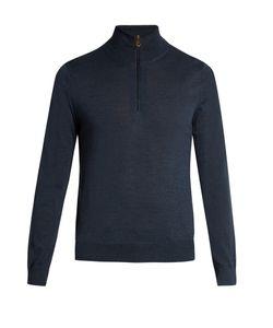 Paul Smith   Half-Zip Wool Sweater