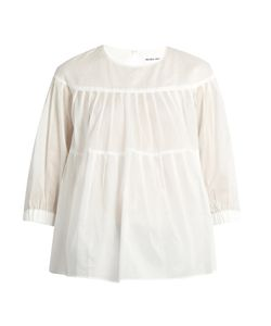 Muveil | Tiered Pleated Cotton Top