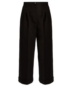 Fendi | Wide-Leg Cotton-Crepe Trousers