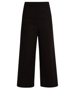 Rochas | Wide-Leg Stretch-Cotton Cropped Trousers