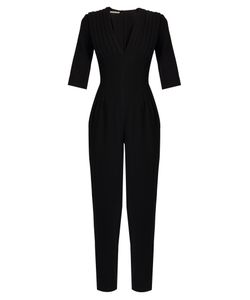 Emilia Wickstead | Bela V-Neck Wool-Crepe Jumpsuit