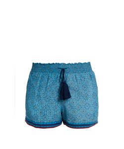 Talitha | Printed Cotton And Silk-Blend Shorts