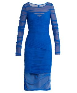 Versace | Ruched Tulle Dress