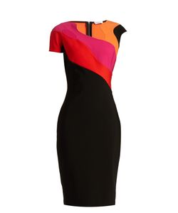 Mugler | Abstract Neckline And Panel Jersey Dress