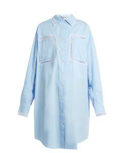 Natasha Zinko | Lace-Trimmed Cotton-Poplin Shirt Dress