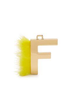 Fendi   Abclick Letter F Key Charm