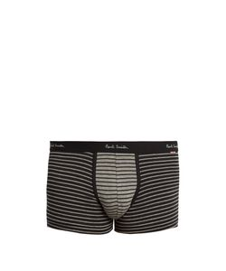 Paul Smith | Striped Cotton-Blend Boxer Trunks