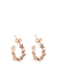 Diane Kordas | Diamond Rosestar Line Earrings