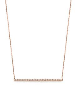 Diane Kordas | Diamond Rosebar Necklace