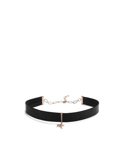 Diane Kordas | Diamond Rose Leather Choker
