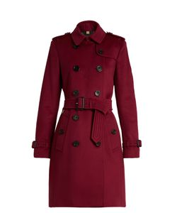 Burberry   Kensington Wool And Cashmere-Bend Trench Coat
