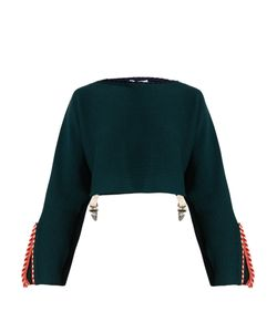 Toga | Whipstitch-Trimmed Cotton-Blend Cropped Sweater