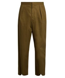 J.W.Anderson | Pleat-Back Cotton Cropped Trousers