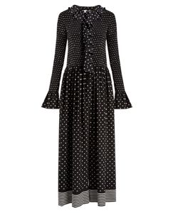 Stella McCartney | Ruffled Polka-Dot Print Jumpsuit