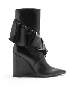 J.W.Anderson | Ruffled Leather Mid-Calf Boots