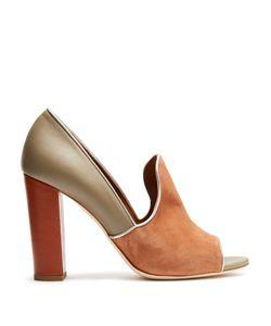 Malone Souliers | Grace Block-Heel Open-Toe Pumps