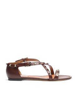Valentino | Rockstud Cross-Strap Leather Sandals