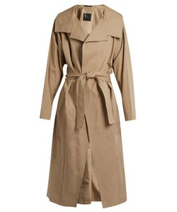 Y'S BY YOHJI YAMAMOTO | Distressed-Dot Cotton Trench Coat