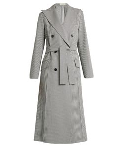Nina Ricci | Double-Breasted Hounds-Tooth Jacket