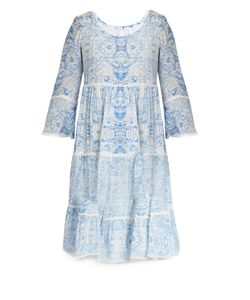Athena Procopiou | The Midsummers Sky Silk Dress
