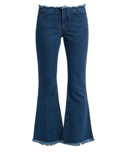 MARQUES'ALMEIDA | Capri Frayed-Edge Flared Cropped Jeans