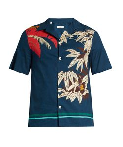 Valentino | Tropical-Print Cotton Shirt