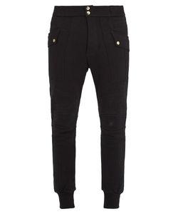 Balmain | Contrast-Panel Cotton Track Pants