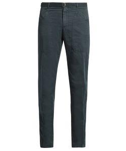 Boglioli | Slim-Leg Cotton And Linen-Blend Trousers