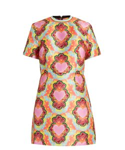 House Of Holland | Heart-Print Twill Mini Dress
