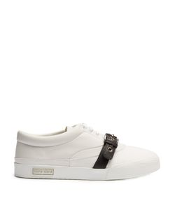 Miu Miu | Buckle-Strap Low-Top Leather Trainers