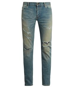 Saint Laurent | Distressed Skinny Jeans