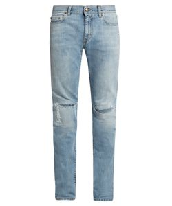 Saint Laurent | Repaired-Knee Skinny Jeans