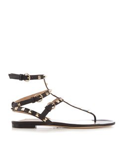Valentino | Rockstud Flat Leather Sandals