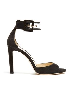 Jimmy Choo | Moscow 100mm Suede Sandals