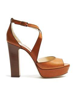 Jimmy Choo | April 120mm Block-Heel Sandals