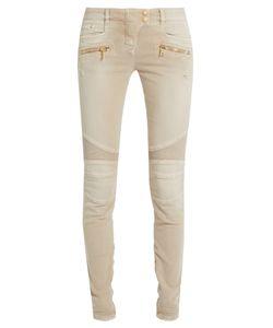 Balmain | Low-Rise Skinny Biker Jeans