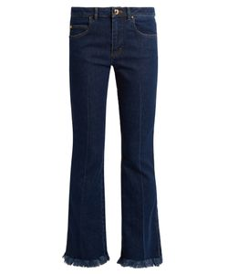 Sonia Rykiel | Mid-Rise Flared Cropped Jeans